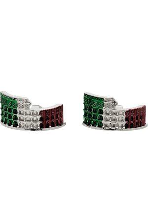 Paul Smith Silver & Multicolor 'Rome Souvenir' Cufflinks