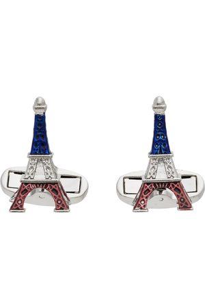 Paul Smith Silver & Multicolor 'Paris Souvenir' Cufflinks