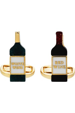 Paul Smith Men Cufflinks - Silver & Multicolor Wine Cufflinks