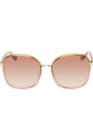Chloé Women Square - Pink & Orange Square Sunglasses