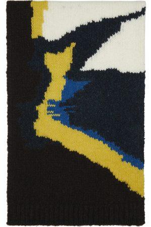 DRIES VAN NOTEN Brown Intarsia Knit Scarf