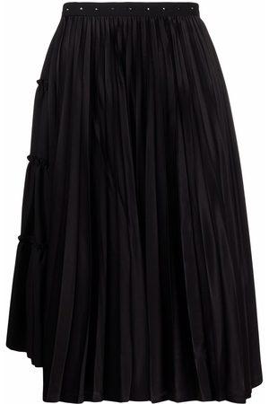 Comme des Garçons Women Pleated Skirts - Pleated asymmetric skirt