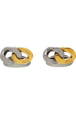 Burberry Men Cufflinks - Gold & Silver Curb Chain Cufflinks