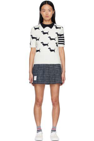 Thom Browne Women Sweatshirts - Hector 4-Bar Short Sleeve Sweater