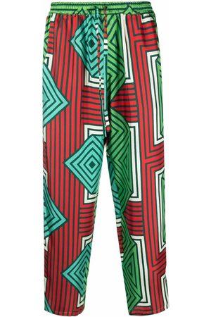 PIERRE-LOUIS MASCIA Geometric-print trousers