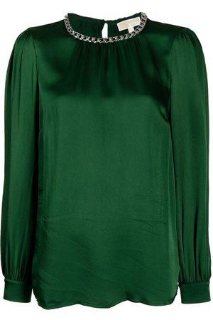 Michael Kors Women Blouses - Chain-link detail long-sleeved blouse