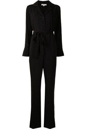 Michael Kors Women Jumpsuits - Jacquard-logo belted jumpsuit
