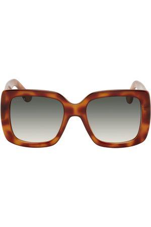 Gucci Tortoiseshell Oversized Square Sunglasses