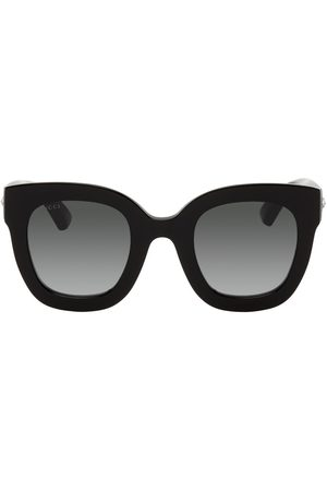 Gucci Women Round - Black Round Star Sunglasses
