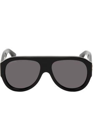 Gucci Black Thick Aviator Sunglasses