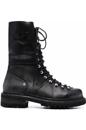 Dsquared2 Men Lace-up Boots - Logo-patch lace-up boots
