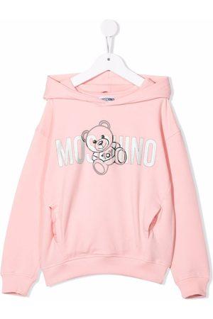 Moschino Girls Hoodies - Glitter logo hoodie