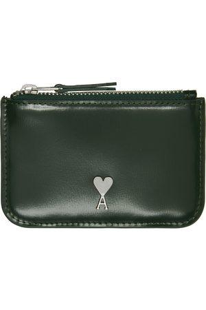 Ami Men Wallets - Green Ami de Cœur Zipped Wallet