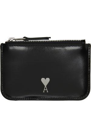Ami Black Ami de Cœur Zipped Wallet