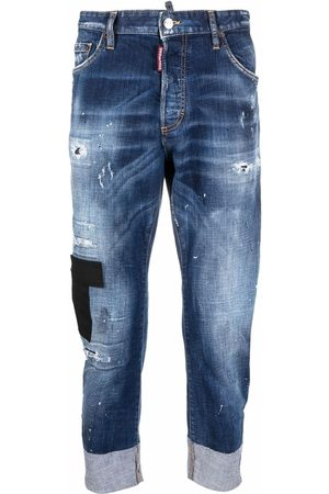 Dsquared2 Men Jeans - Patchwork cropped jeans