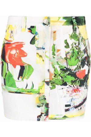 Msgm Women Printed Skirts - Abstract-print mini skirt