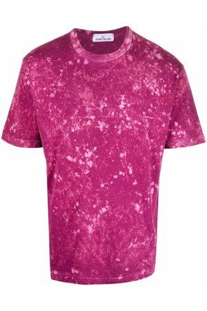 Stone Island Men T-shirts - Splatter-effect logo-print T-shirt
