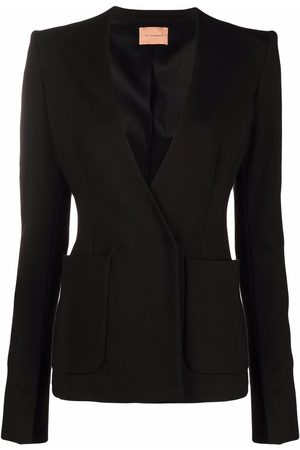The Andamane Plunging V-neck fitted blazer