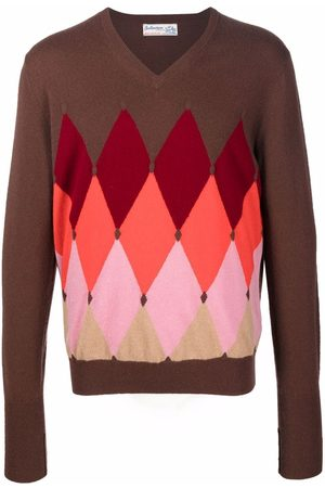 BALLANTYNE Argyle-pattern cashmere sweater