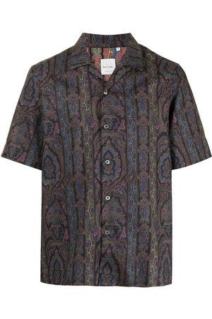Paul Smith Men Short sleeves - Paisley-print short-sleeved shirt