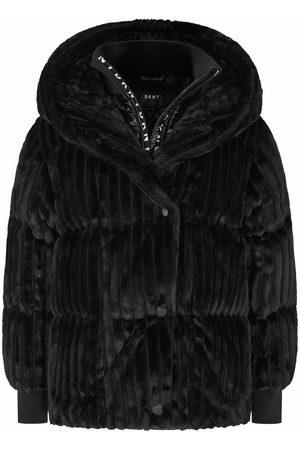 DKNY Ribbed padded hooded jacket