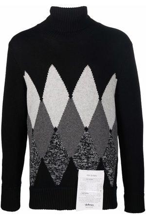 BALLANTYNE Men Turtlenecks - Argyle-pattern roll neck jumper