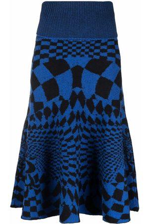 Stella McCartney Women Printed Skirts - Geometric-pattern skirt