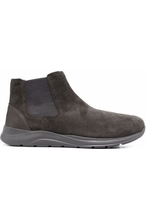 Geox Men Boots - Damiano suede boots - Grey