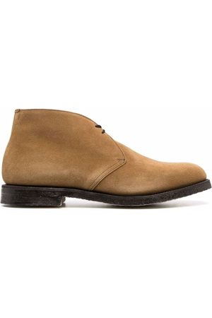 Church's Men Ankle Boots - Suede almond-toe lace-up ankle boots