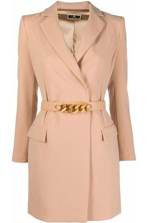 Elisabetta Franchi Women Blazers - Belted blazer dress - Neutrals