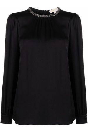 Michael Kors Chain-neck long-sleeve blouse