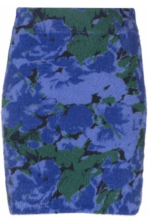 ROTATE Floral print fitted skirt