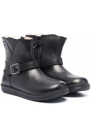 Geox Buckled leather boots