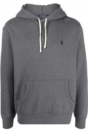 Polo Ralph Lauren Men Hoodies - Embroidered-logo melange hoodie - Grey