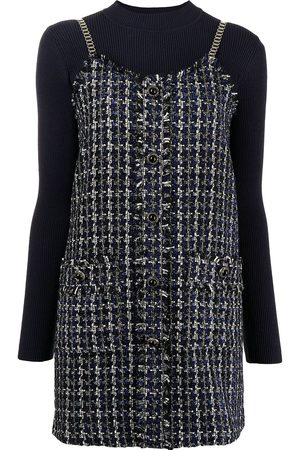 B+AB Chain straps houndstooth dress