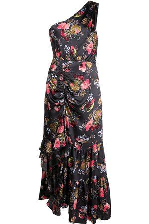 Cinq A Sept Women Printed Dresses - One-shoulder floral-print dress - Multicolour