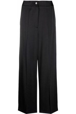 MM6 MAISON MARGIELA Women Wide Leg Pants - Wide-leg satin trousers