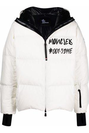Moncler Men Puffer Jackets - Logo-print padded down jacket