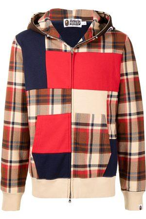 A Bathing Ape Men Sweatshirts - Check colour-block sweatshirt