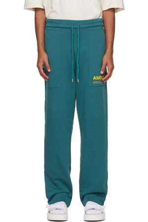 AMBUSH Men Sweats - Blue 'Workshop' Lounge Pants
