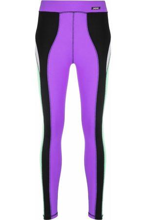 MSGM Panelled slim-fit leggings