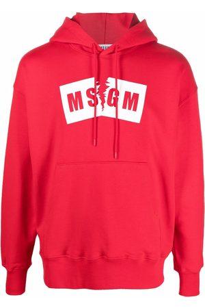 Msgm Men Hoodies - Logo-printed hoodie
