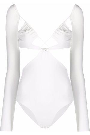 Amazuìn Women Monokinis - Azhar longsleeved cut-out swimsuit