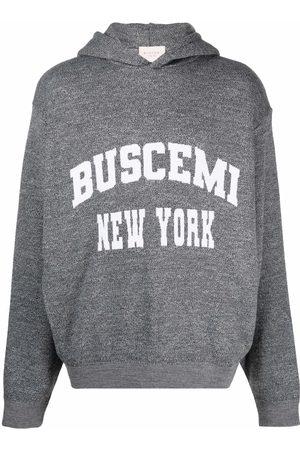 BUSCEMI Men Hoodies - Logo-motif knitted hoodie - Grey