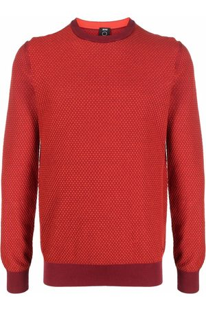 HUGO BOSS Men Sweatshirts - Textured-knit jumper