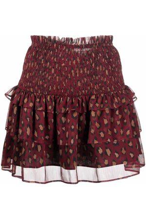 TWINSET Leopard-print mini skirt