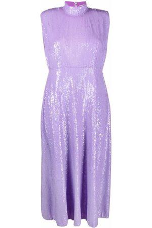 Msgm Sequin-embellished sleeveless midi dress