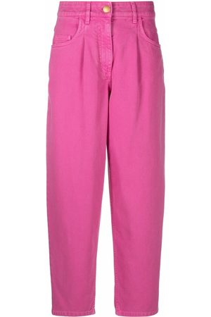 Moschino Women Pants - High-waisted denim trousers