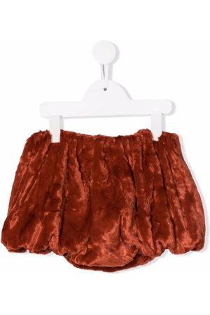 Wolf & Rita Girls Shorts - Francisca faux-fur ruched shorts