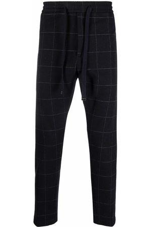 Dondup Men Straight Leg Pants - Grid elasticated waist trousers